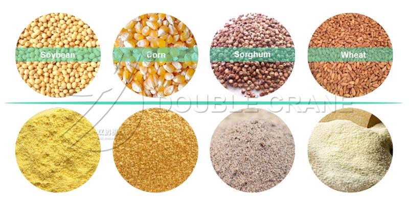 Зерновые порошки кормовой молотковой мельницы