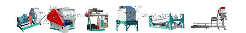équipements de ligne de production d'aliments pour poulets