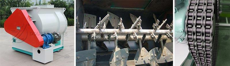 structure de mélangeur d'alimentation à double arbre