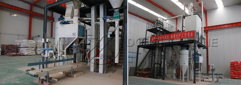 packaging machine feed mill plant project