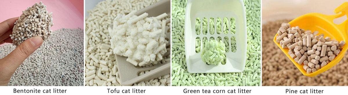 cat litter pellet types